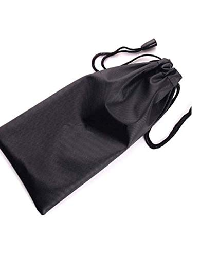 ANNIUP 20 Pcs Sunglass Pouch Portable Eyeglass Bags Pouch Waterproof Glasses Bag Drawstring Design Storage Bag for Eyewear Sunglasses GadgetsBlack