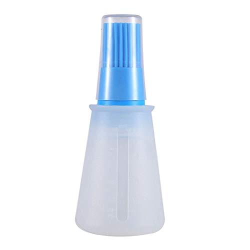 GADHNN 1 unids Botella de Aceite de Silicona portátil con Pincel Cepillos de Aceite de la Parrilla Pastelería líquida Pastelería Hornear BBQ Herramienta Herramientas (Color : Blue)