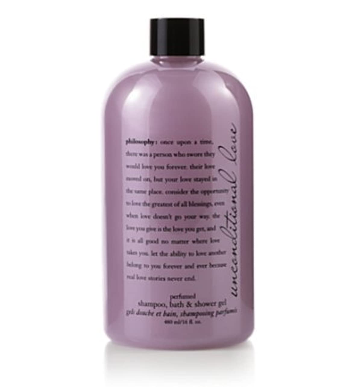 有名人反応する誠実unconditional love (アンコンディショナルラブ ) 16.0 oz (480ml) perfumed shampoo, bath & shower gel for Women