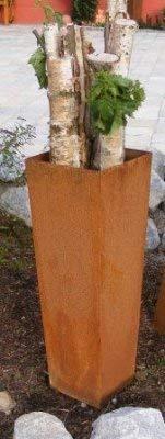 Rostikal | Konische Edelrost Deko Säule | Wohn - und Gartendeko aus Metall Eisen | 85 cm