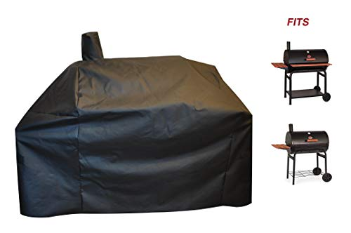 acoveritt a1COVER-Grill-Smoker-Cover Sized for Char Griller Grill Smoker 2823, 2123 600D Heavy Duty Canvas Water Proof All Weather Off-Set Charcoal Smoker Cover G21616
