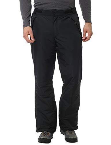 Ultrasport Pantalón de Esquí y Snowboard para Hombre Arlberg - Pantalón Softshell Impermeable con Tela Ultraflow 2.000 - Pantalón de Nieve Ajustable, Negro L