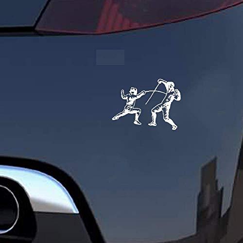 14,5x10,8 cm Sport Fechten Kampf Auto Aufkleber Silhouette Zubehör Extreme Bewegung für Auto Laptop Fenster Aufkleber