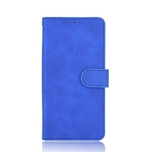VGANA Hülle für ZTE Nubia Red Magic 6s Pro, Brieftasche PU Lederbezug Einfache Mode Muster Buchstil Handy Shell. Blau