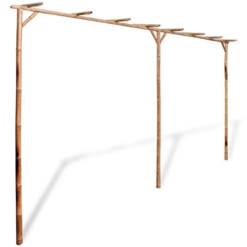 Festnight Gartenpergola Anlehn Pergola aus Bambus 385 x 40 x 205 cm