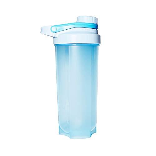LSGMC Shaker Copa, Botellas De Plástico De Deportes Acuáticos, a Prueba De Fugas Portátil Multifuncional Blender Shake Copa, 700ml,Azul