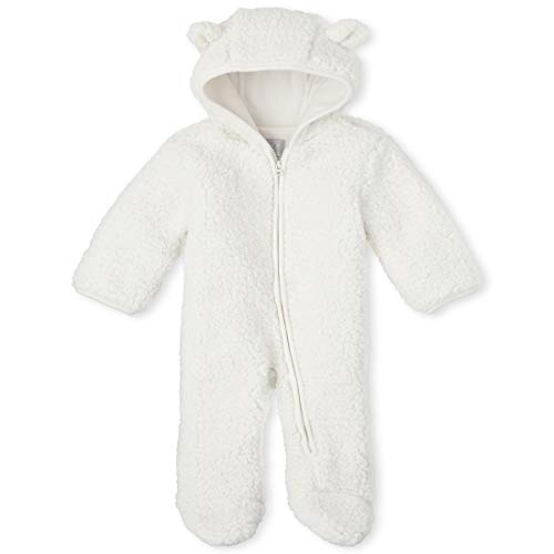 The Children's Place Baby Bunting Snowsuit, FAIR Ivory, 6-9MONTHS