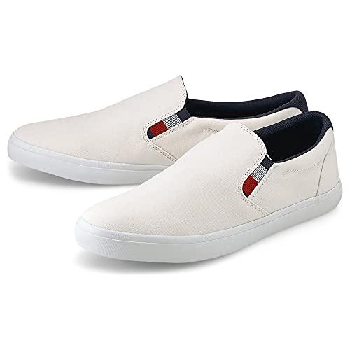 Tommy Hilfiger Herren Essential Slip ON Chambray Vulc Sneaker, elfenbeinfarben, 42 EU