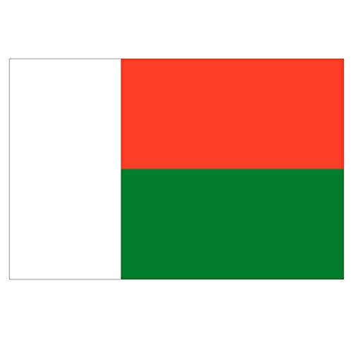 Supstick Madagaskar Fahne Aufkleber 15 x 10 cm