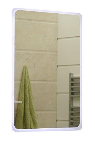 modernes Lichtspiegel Wandspiegel Badspiegel GS045N mit LED-Beleuchtung Tageslichtweiß IP44 (50 x 70cm)