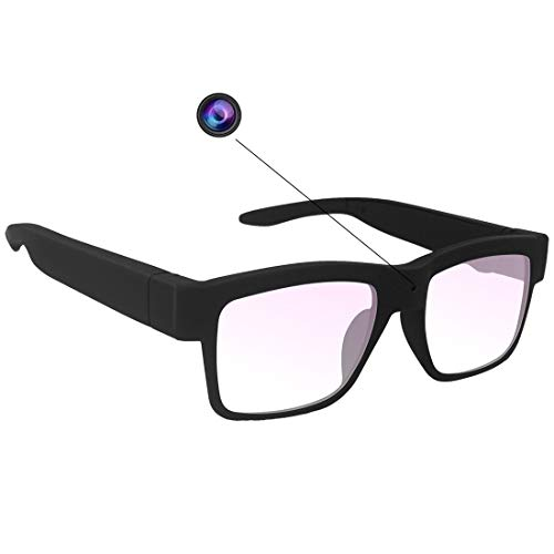 Camera Glasses 1080P, HD Video Recording Camera Sport Camera with Wearable Smart Glass for Men Womens Office/Training/Teaching/Kids/Pets