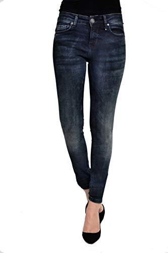 Zhrill Damen Jeanshose Röhrenjeans 5 Pocket Vintage Skinny Fit Daffy, Größe:W31 / L32, Farbe:W7156 - Blue