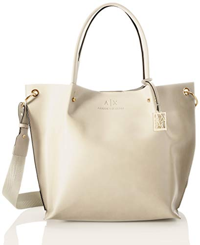 Armani Exchange Womens Shopper, Ivory, TU