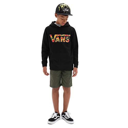 Vans Classic PO Hoodie FT Boys Sudadera con Capucha, Camuflaje de Llama Negra, XL para Niños