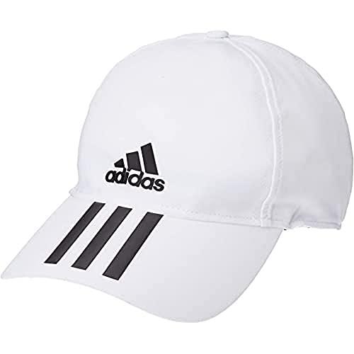 adidas C40 6P 3S CLMLT Hat, White/Black, OSFM