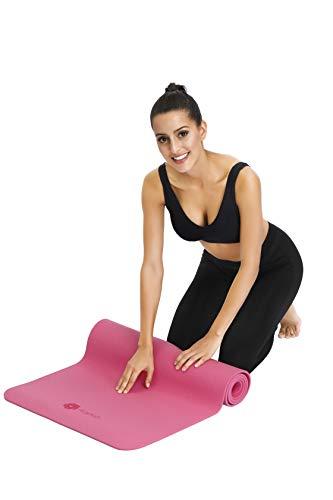 Aisoco Premium TPE Tapis de Yoga: Nouvelle Génération Matière TPE, Poids léger, antidérapant, respectueux de l'environnement,Sécurité de la Peau,avec étui et Sangle