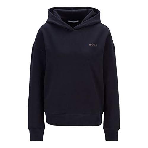 31Cz+oje+EL. SS500  - BOSS Womens C Eshanta Logo-Print Hooded Sweatshirt in a Terry-Cotton Blend