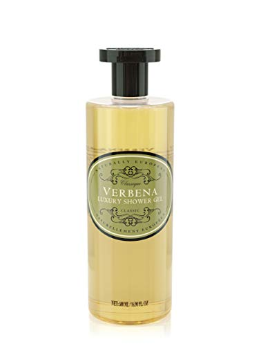 Naturally European Luxury Verbena Organic Body Wash - 500ml   No SLS and Parabens   Cleansing and Moisturising Lotion Shower & Bath Gel   For Men and
