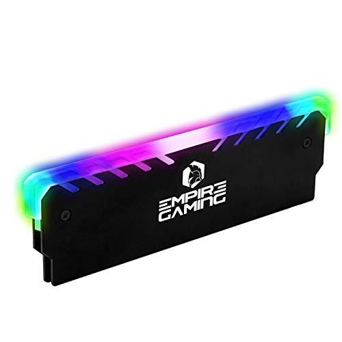EMPIRE GAMING-Guardian M201- Gamer Kühlkörper für RAM-Speicher–Adressierbarer RGB-SYNC-DDR DDR3 DDR4-Aluminium Kühler für Speicher–DIY Overclocking für PC Gamers - Intel und AMD