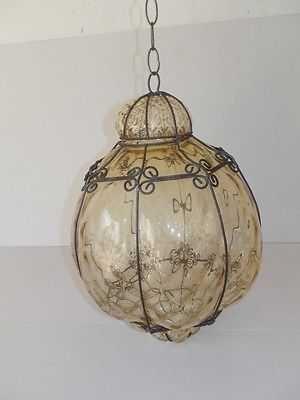 Lucerna hanglamp Venetiaans glas mondgeblazen met ketting AMBRA