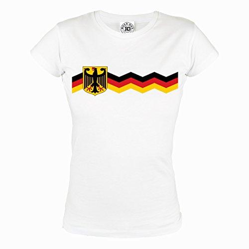Rule Out Mujer Camiseta. Alemania. Fanático del Fútbol. Casual Fanswear (Talla 3XLarge)