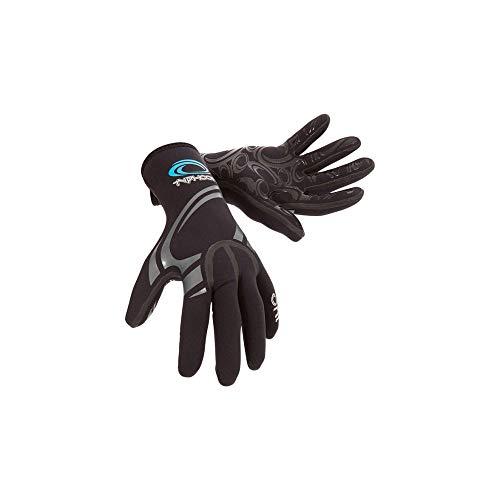 Typhoon Kona 1.5MM Gbs neopreen wetsuit-handschoenen Zwart - Easy Stretch - Super stretch T Flex neopreen - Gelijmde gesealde naden