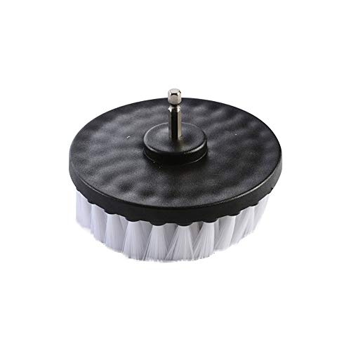Wixine 1Pcs 5' White Drill Brush Attachment for Cleaning Carpet Leather and Upholstery Kit