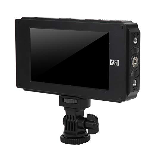 Mxzzand Director de Pantalla táctil HD Monitor de Video Cámara SLR Visor 1920x1080 Monitor de Salida de Entrada 4K HD