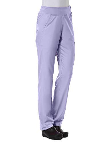 Maevn Women's EON Yoga 7-Pocket Scrub Pant(Lavender, Medium Petite)