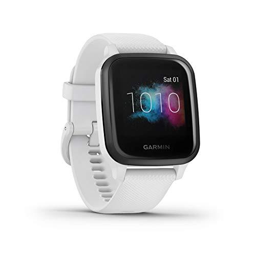 """Garmin Venu Sq Music Amazon Exclusive – wasserdichte GPS-Fitness-Smartwatch mit Musikplayer, 1,3"""" Touchdisplay, Gesundheitstracker & Sport-Apps, Garmin Pay, Herzfrequenzmessung, 6 Tage Akkulaufzeit"""