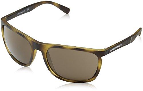 Emporio Armani Herren 0ea4107 Sonnenbrille, Braun (Matte Havana), 59