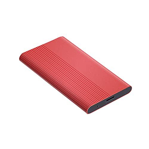 External Hard Drive,Portable External 1TB 2TB Ultra Slim Hard Drive Portable HDD Type C Hard Drive for Mac, PC(2TB-A Red)