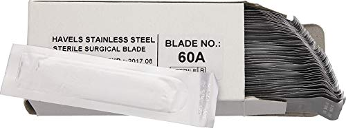 Havalon #60A Stainless Steel Bulk Replacement Blades 50 Count