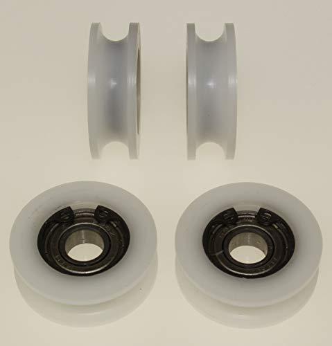(A 30-6-8) 4 x Polyacetal Riemenscheibe Rollen 30 mm Durchmesser U Nut Delrin Führungsrollen Acetalscheiben maschinell hergestellt in der EU (6 mm Nut - 8 mm Lager)