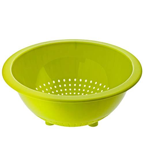 Rotho Caruba Küchensieb mit sicherem Stand, Kunststoff (PP) BPA-frei, grün, 24,5 x 24,5 x 10,4 cm