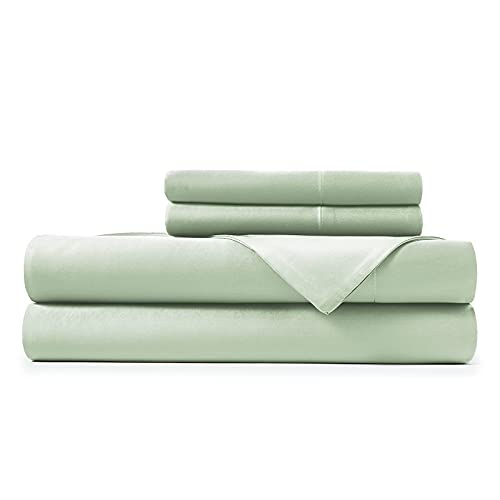 Hotel Sheets Direct 100% Bamboo Sheets - Queen Size Sheet and Pillowcase Set - Cooling, 4-Piece Bedding Sets - Light Green