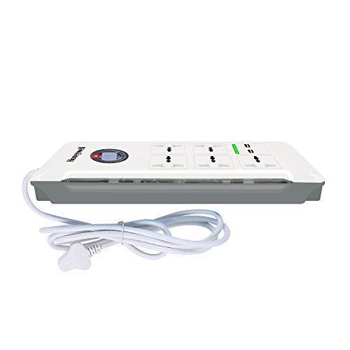 Honeywell Platinum 5 Out + 2 USB Surge Protector with Master Switch