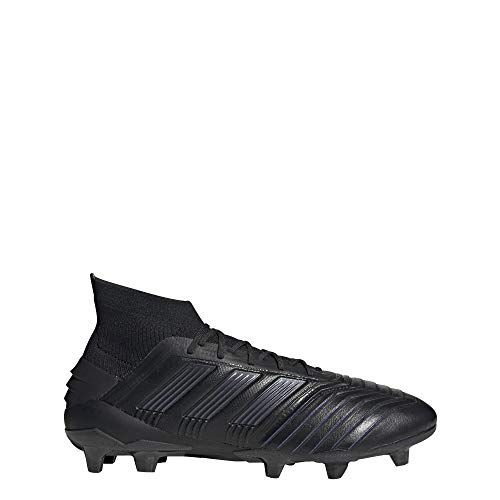 adidas Predator 19.1 Firm Ground Leather Cleats Men's, Black, Size 10.5