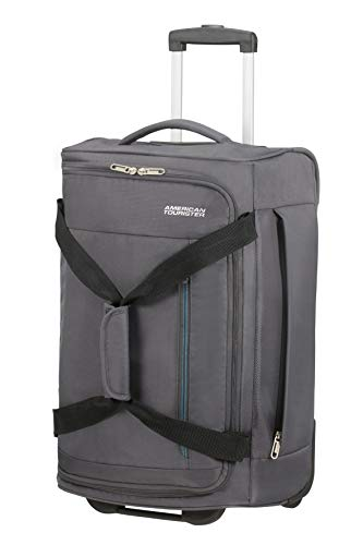 American Tourister Heat Wave - Bolsa de Viaje con Ruedas S, 55 cm, 45 L, Gris (Charcoal Grey)