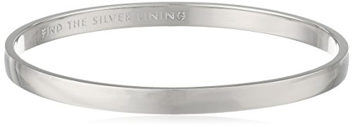 kate spade new york 'Idiom Bangles' Find The Silver Lining Solid Bangle Bracelet