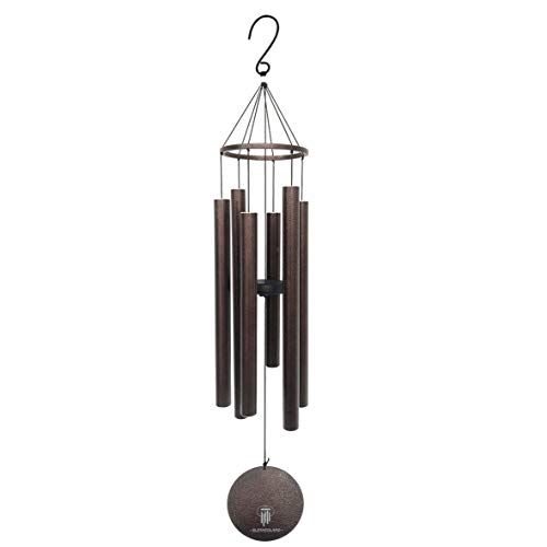 "BLESSEDLAND Wind Chimes- Large Deep Tone, 41"" Wind Chime, 6 Aluminum Tubes, Outdoor Decor for Garden,Yard,Patio and Home (41"" Copper Vein)"