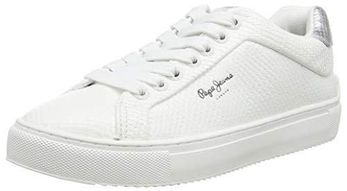 Pepe Jeans London Adams Lamu Zapatillas para Mujer , Blanco ( 800WHITE ) , 38 EU