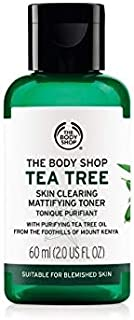 The Body Shop Tea Tree Skin Clearing Mattifying Toner 60ml - helps skin looks visibly clearer and removes Acne and Blemishes