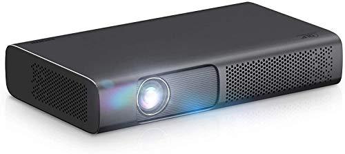 TIANYOU Projektorprojektor 2000 Smart Dlp-Projektor T615 Für 1080P 4K-Video-Mini-Beamer Wifi 3D Home Cinema Für Home Entertainment Große Kapazität und großer Bildschirm/Schwarz /