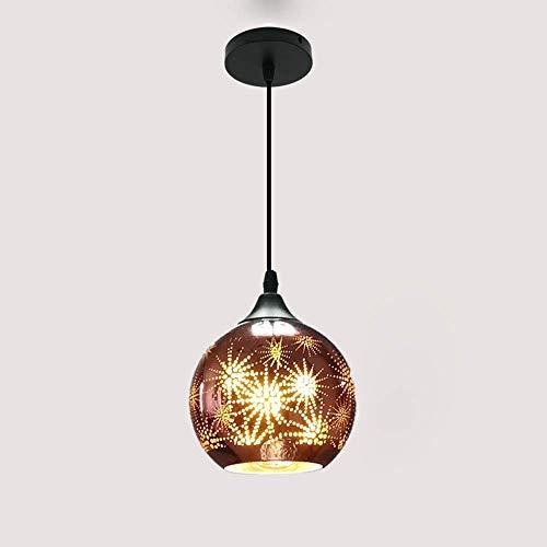 CHHD Lámpara Colgante Moderna Lámpara de suspensión de Restaurante Moderno Lámpara de Cristal de Fuegos Artificiales de Colores 3D - Bar Loft Dormitorio Balcón Pantalla de lámpara de un