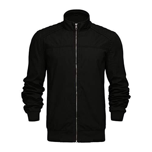 serliy😛Winter Mantel Mode für Männer Leichte Jacke Mäntel mit Stehkragen Outdoor Winddichte Übergangsjacke Windjacke Lässige Pocket Button Thermo Jacke