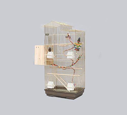 Gabbia per uccelli in metallo dorato, per cockatiels, monaci, parrocchetti, parrocchetti, ecc. 47.5*36*100CM c