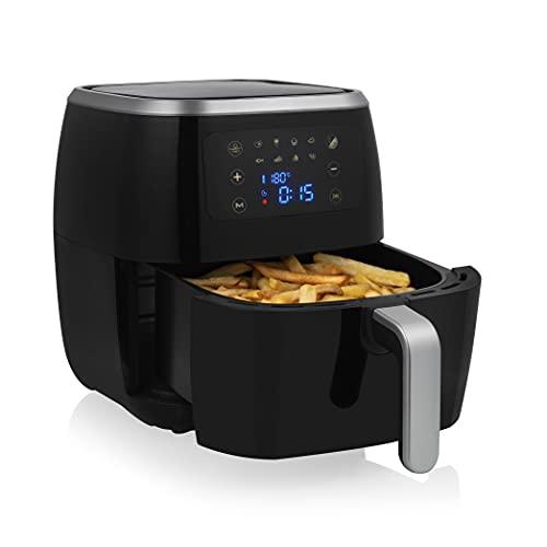 Tristar Freidora de aire Crispy Fryer XXL FR-6997 - 8 programas, 6 L de capacidad, 1800 W, panel de control digital, pantalla táctil, temporizador de 60 minutos, sin BPA, negro [Exclusivo en Amazon]