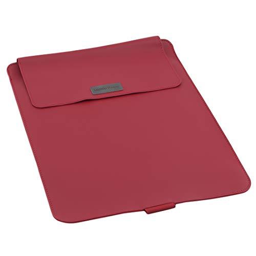 N/A Porte-Documents d'affaires Ultra-Mince Tempérament Pliant Unisexe Multifonctionnel Portefeuille Sac D'ordinateur Léger Durable Pratique Transport (Rouge 15 Pouces)