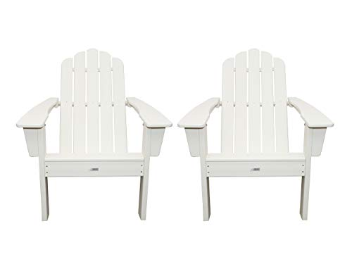 LuXeo LUX-1519-WHT2 Marina Adirondack Chair, White